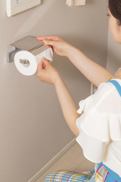 トイレットペーパーを折る人
